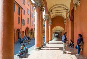 Much of Bologna's social life is spent under the porticoes